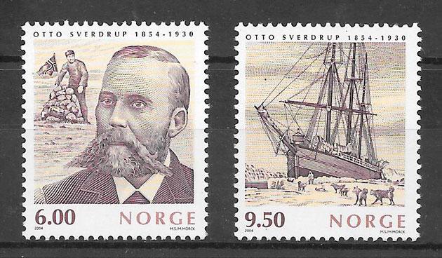 colección sellos emisiones conjunta Noruega 2004