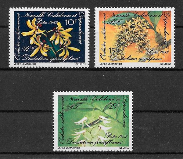 sellos orquídeas Nueva Caledonia 1983