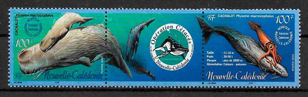 colección sellos emisiones conjunta Nueva Caledonia 2002