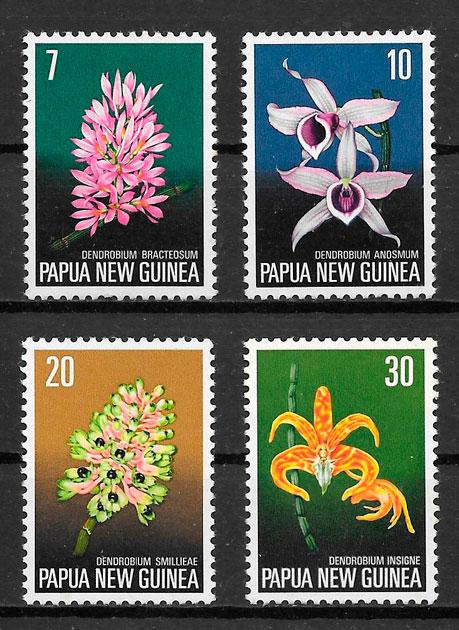 sellos orquídeas Papua Nueva Guinea