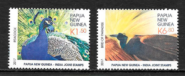 filatelia colección emisiones conjunta Papua y Nueva Guinea