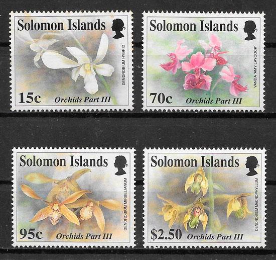 filatelia colección orquídeas 1992
