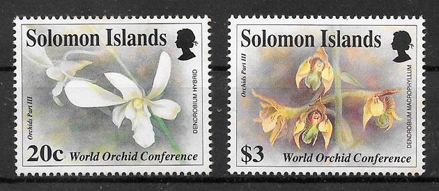 filatelia colección orquídeas 1993