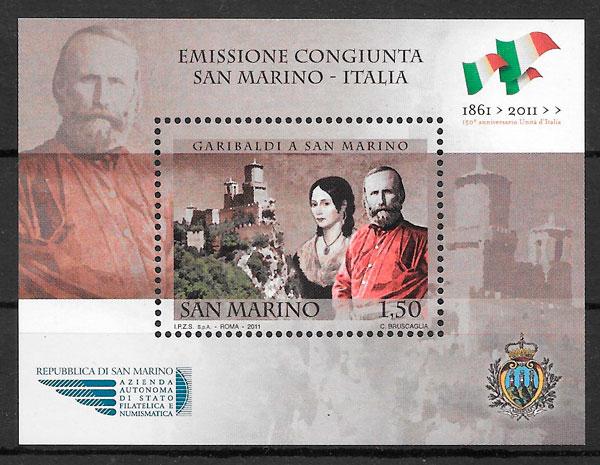 sellos emisiones conjunta San Marino 2011