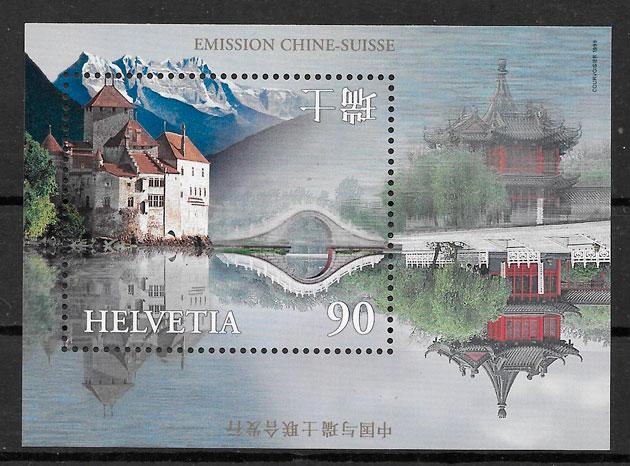 filatelia Suiza Emisiones conjunta 1998