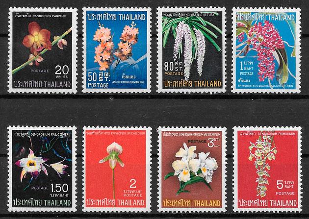 sellos orquídeas Tailandia 1967