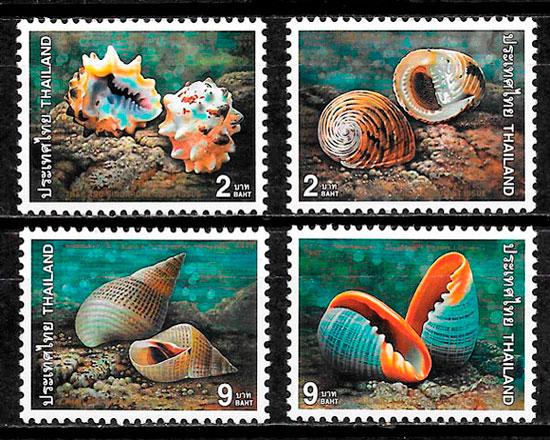 colección selos emisiones conjunta Tailandia 1997