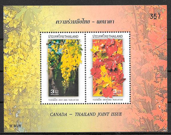 filatelia emisiones conjunta Tailandia 2003