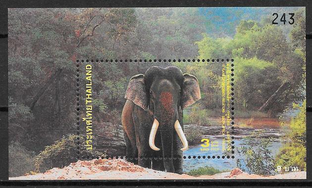 filatelia colección emisiones conjunta Tailandia 2003
