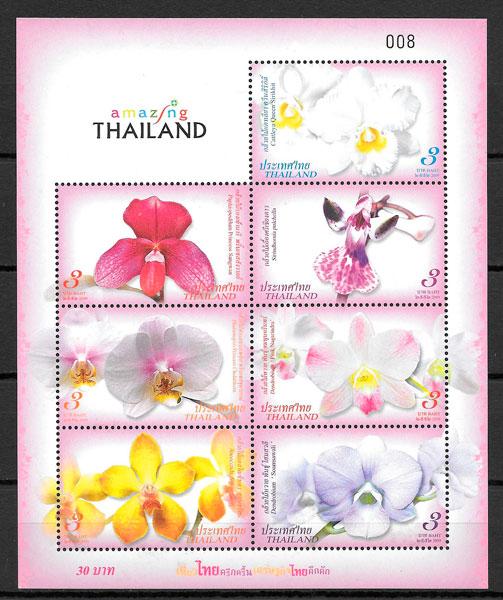 sellos orquídeas Tailandia 2009