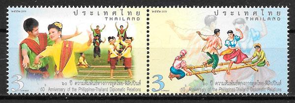 sellos emisiones conjunta Tailandia 2009