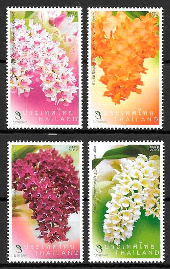 selos orquídeas Tailandia 2010