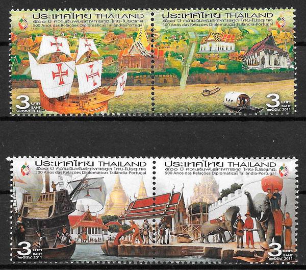 sellos emisiones conjunta Tailandia 2011