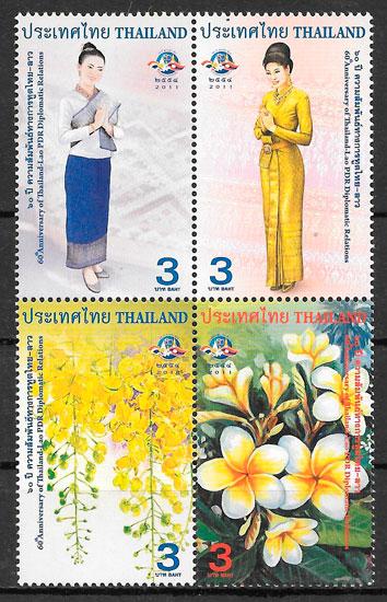 filatelia colección emisiones Conjunta Tailandia 2011