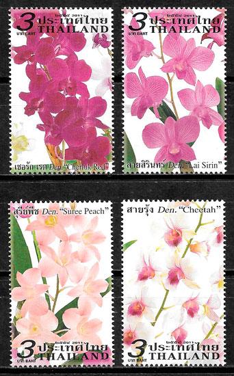 sellos orquídeas Tailandia 2011