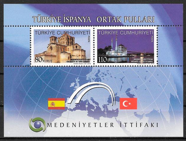colección selos emisiones conjunta Turquía 2010