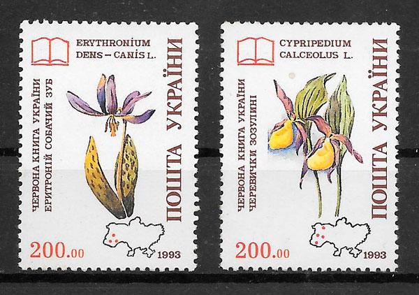 sellos orquídeas Ucrania 1993