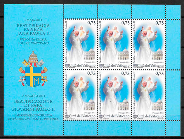 filatelia emisiones conjunta Vaticano 2011