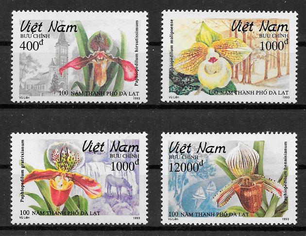 sellos orquídeas Viet Nam 1993