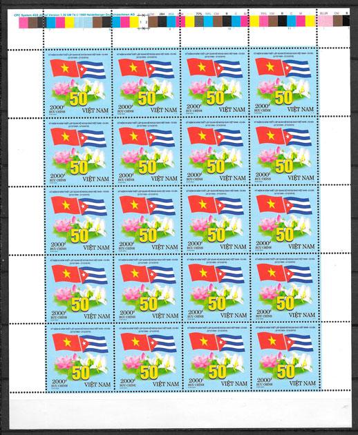 filatelia colección emisiones conjunta Viet Nam 2010
