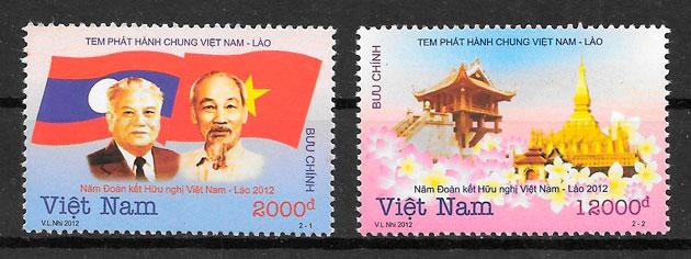 colección sellos emisiones conjunta Viet Nam 2012