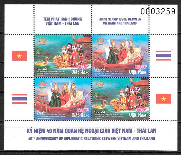 filatelia colección emisiones conjunta Viet Nam 2016