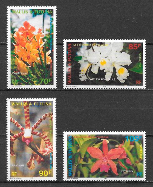 colección sellos orquídeas Wallis y Fotuna 1998