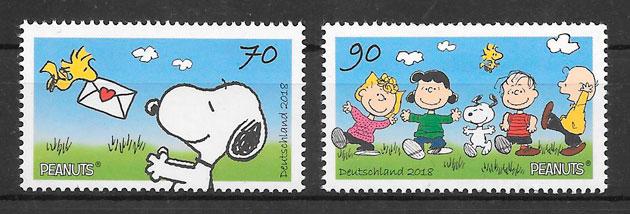 sellos cómic Alemania 2018