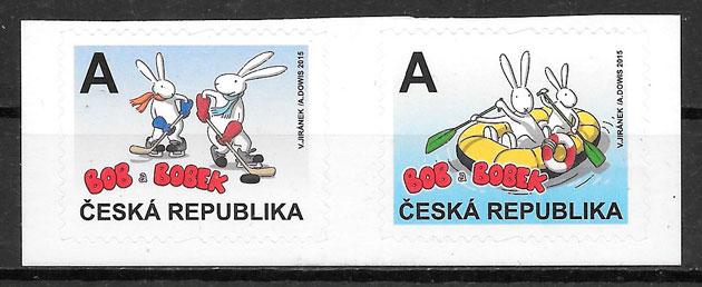 colección sellos cómic Chequia 2015