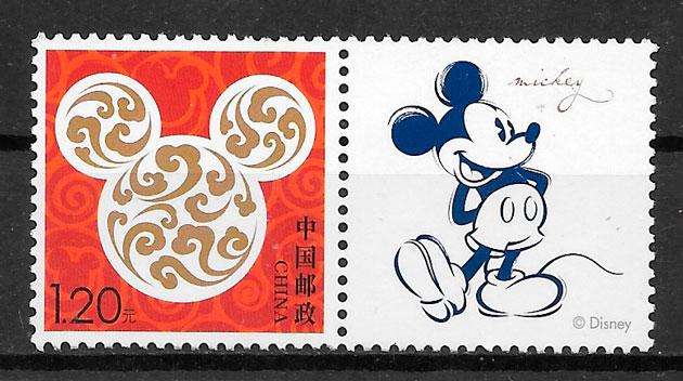 sellos Disney China 2016