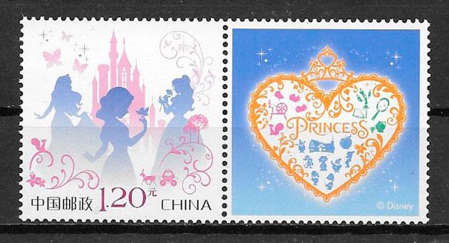 filatelia disney China 2017
