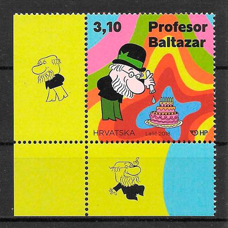 colección selos cómic Croacia 2018