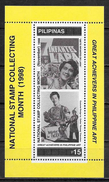 colección sellos cine Filipinas 1998