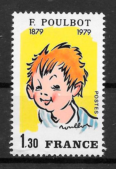 sello cómic Francia 1979