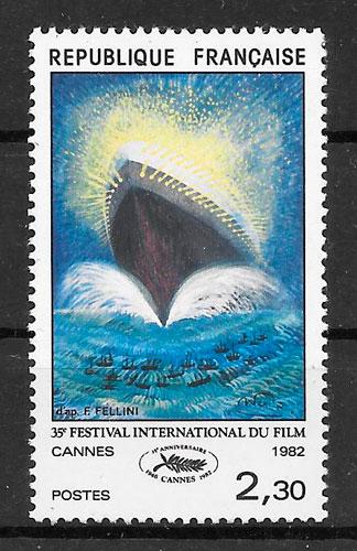 sellos cine Francia 1982