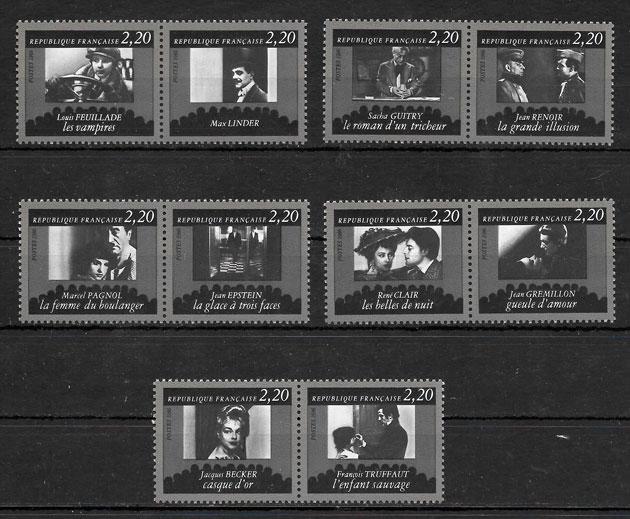 filatelia colección cine Francia