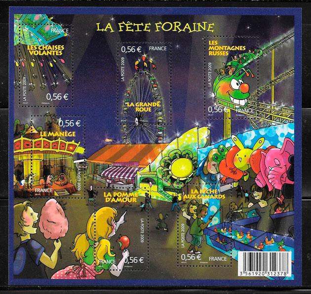 filatelia colección cómic Francia 2009