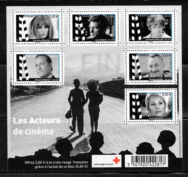 filatelia cine FRANCIA 2012