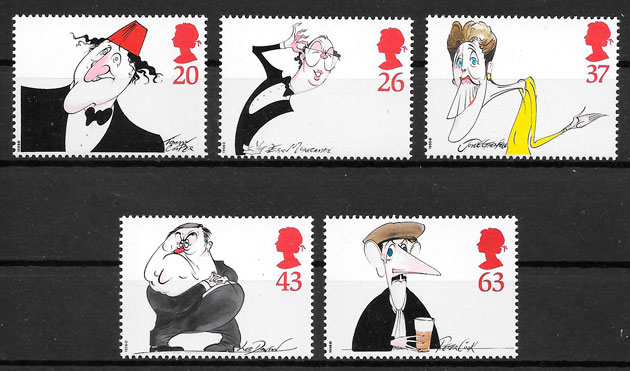 filatelia comic Gran Bretaña 1998