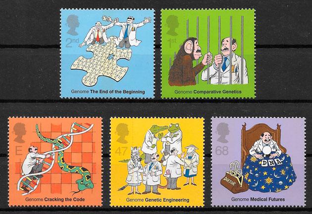 filatelia colección cómic Gran Bretaña 2003