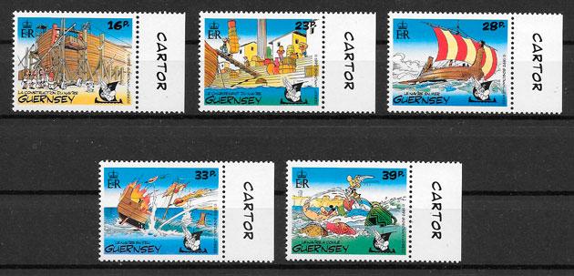 filatelia colección cómic Guernsey1992