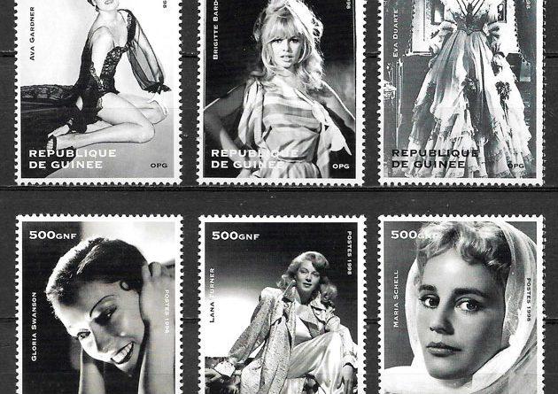 colección sellos cine Guinea 1998