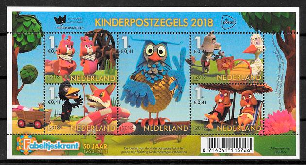 colección sellos Holanda cómic 2018