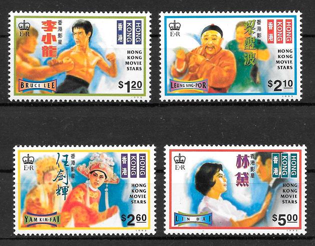 colección sellos cine Hong Kong 1995