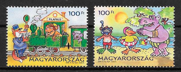 filatelia comic Hungría 2008