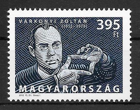 colección sellos cine Hungría 2012
