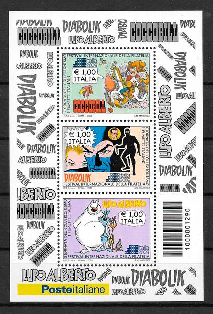 sellos cómic Italia 2009