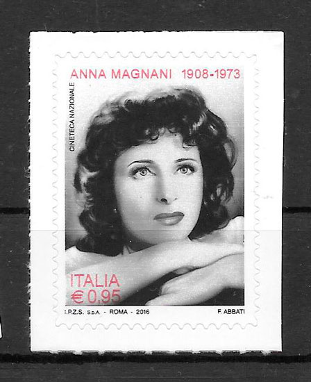 filatelia colección cine Italia 2016