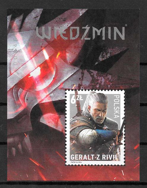 sellos comic Polonia 2016