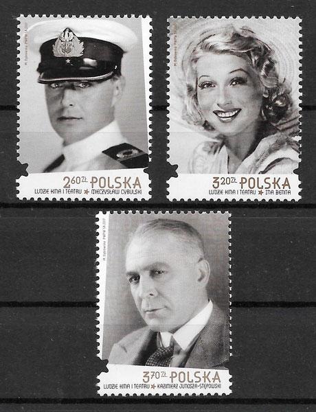 colección sellos Polonia 2017